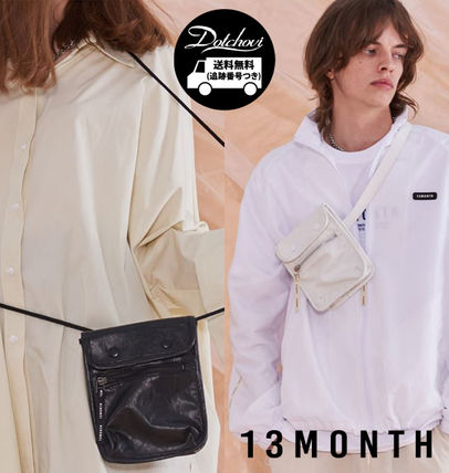 Casual Style Unisex Street Style Chain Plain Shoulder Bags