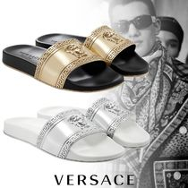 VERSACE Street Style Shower Shoes PVC Clothing Shower Sandals