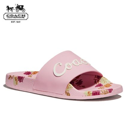 Flower Patterns Casual Style Slippers Flat Sandals