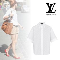 Louis Vuitton Plain Short Sleeves Elegant Style Shirts & Blouses