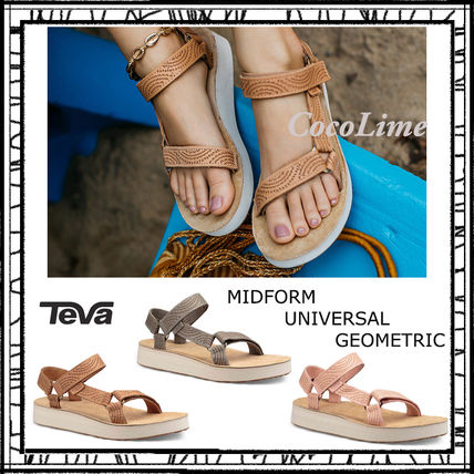 Platform Casual Style Leather Sport Sandals Flat Sandals