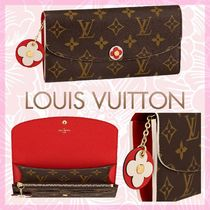 Louis Vuitton MONOGRAM Monogram Canvas Blended Fabrics Bi-color Chain Long Wallets