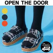 OPEN THE DOOR Other Check Patterns Platform Casual Style Street Style