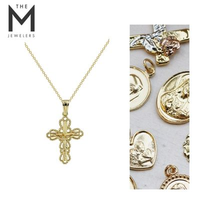 Casual Style Unisex Cross Street Style Chain Silver