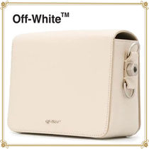 Off-White Flower Patterns Casual Style Leather Shoulder Bags