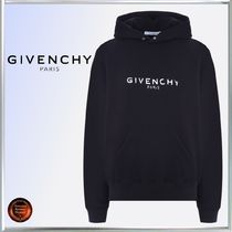GIVENCHY Long Sleeves Plain Cotton Hoodies