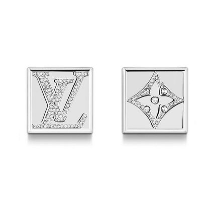 36eed276ec Louis Vuitton 2019-20AW 2019-20AW MONOGRAM STRASS CUFFLINKS silver one size  buttons (M68252 )