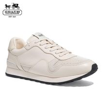 Coach Blended Fabrics Plain Leather Sneakers