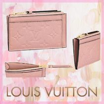 Louis Vuitton MONOGRAM EMPREINTE Monogram Blended Fabrics Leather Card Holders