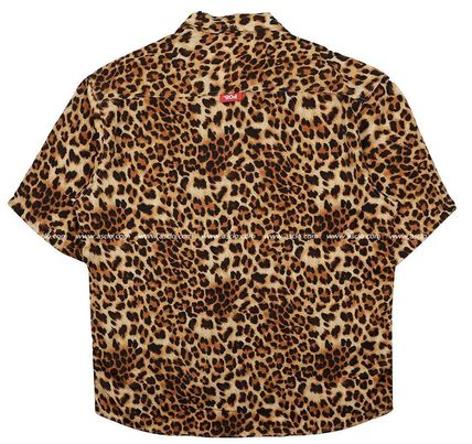 ASCLO Shirts Leopard Patterns Unisex Street Style Short Sleeves Oversized 10