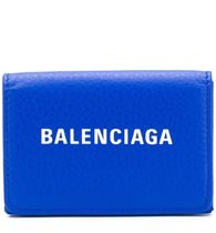 BALENCIAGA EVERYDAY TOTE Unisex Street Style Bi-color Plain Leather Folding Wallets