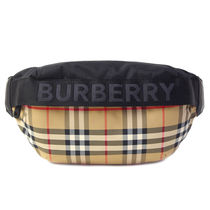 Burberry Other Check Patterns Nylon Hip Packs