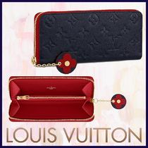 Louis Vuitton MONOGRAM EMPREINTE Monogram Blended Fabrics Bi-color Leather Long Wallets