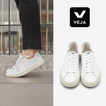 VEJA Round Toe Rubber Sole Casual Style Unisex Street Style Plain