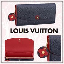 Louis Vuitton PORTEFEUILLE EMILIE Monogram Canvas Blended Fabrics Bi-color Chain Long Wallets
