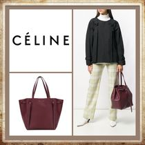 CELINE Cabas Phantom A4 Plain Leather Handbags