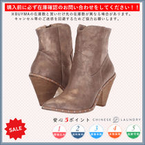 CHINESE LAUNDRY Casual Style Plain Chunky Heels High Heel Boots