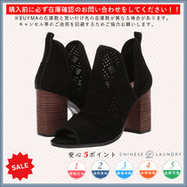 CHINESE LAUNDRY Open Toe Casual Style Plain Chunky Heels High Heel Boots