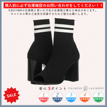 CHINESE LAUNDRY Open Toe Casual Style Chunky Heels High Heel Boots