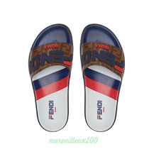 FENDI Street Style Leather Shower Shoes Shower Sandals