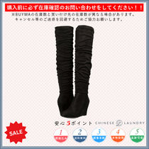 CHINESE LAUNDRY Round Toe Casual Style Plain Wedge Boots