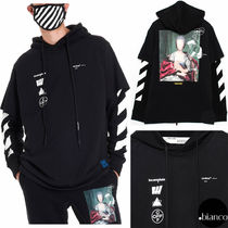 Off-White Street Style Long Sleeves Cotton Oversized