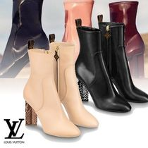 Louis Vuitton Monogram Python Elegant Style Ankle & Booties Boots