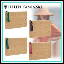 HELEN KAMINSKI Casual Style Blended Fabrics Home Party Ideas Clutches