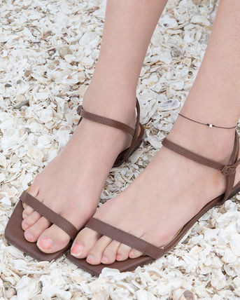 Open Toe Casual Style Plain Sandals
