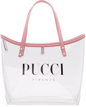 Emilio Pucci Plain Crystal Clear Bags PVC Clothing Elegant Style Totes