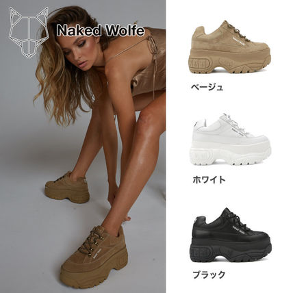 Platform Round Toe Casual Style Suede Street Style Plain