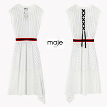 maje Short A-line Short Sleeves Party Style Lace Dresses