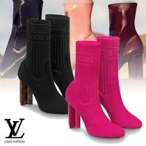 Louis Vuitton Plain Party Style Ankle & Booties Boots