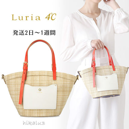 Nylon 2WAY Plain Elegant Style Totes