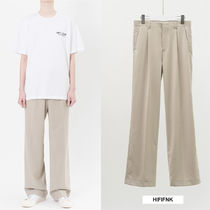 HI FI FNK Slax Pants Unisex Wool Plain Slacks Pants