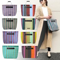 MARNI Stripes Other Check Patterns Unisex A4 Totes