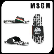 MSGM Stripes Street Style Shower Shoes PVC Clothing