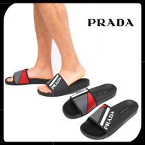 PRADA Street Style Shower Shoes PVC Clothing Shower Sandals