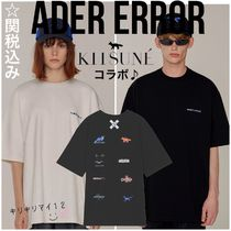 ADERERROR Unisex Street Style U-Neck Collaboration Plain Cotton