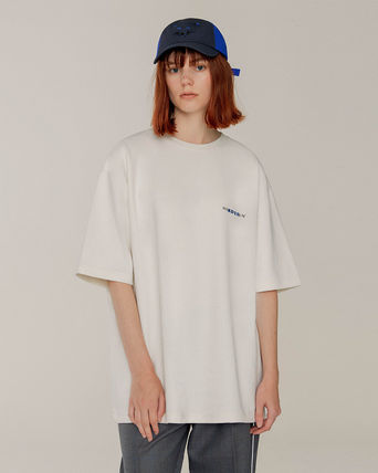 ADERERROR More T-Shirts Unisex Street Style U-Neck Collaboration Plain Cotton 2
