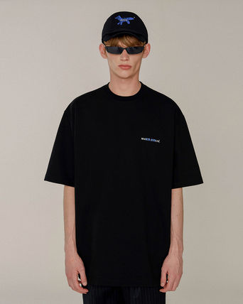 ADERERROR More T-Shirts Unisex Street Style U-Neck Collaboration Plain Cotton 9