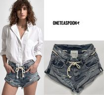 One Teaspoon Short Casual Style Denim Street Style Plain