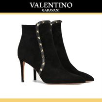 VALENTINO Suede Studded High Heel Boots