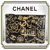 CHANEL Calfskin Bag in Bag Other Animal Patterns Elegant Style