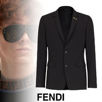 FENDI BAG BUGS Short Street Style Plain Blazers Jackets