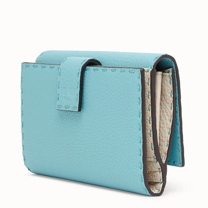 FENDI Long Wallets Calfskin Plain Long Wallets 3