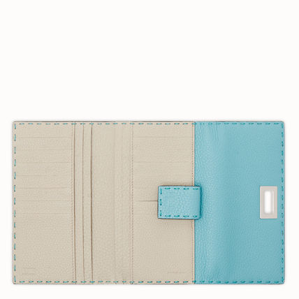 FENDI Long Wallets Calfskin Plain Long Wallets 5