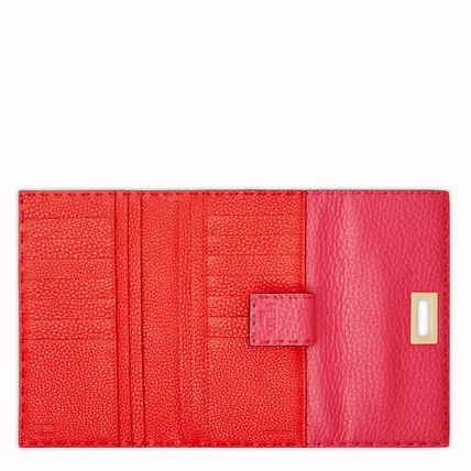 FENDI Long Wallets Calfskin Plain Long Wallets 9