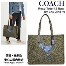 Coach Unisex Collaboration A4 Other Animal Patterns Totes