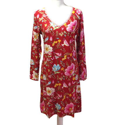 Flower Patterns Long Sleeves Party Style Dresses